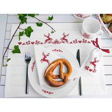 Festliche Tischwäsche-Serie - Hirsche Weihnachten mit nordischem Charme.