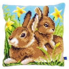 Kreuzstichkissen - Kaninchen, gross & klein