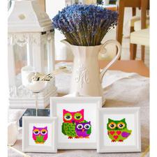 Miniaturen mit Holzrahmen Kreuzstich-Stickideen - besonders für Anfänger geeignet.