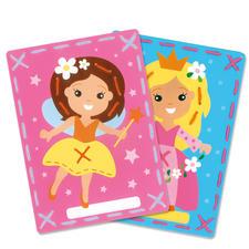2 Stickbilder im Set - Fee und Prinzessin Stickspass für Kinder