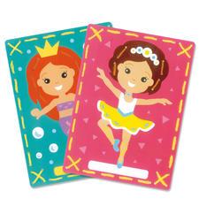 2 Stickbilder im Set - Meerjungfrau und Ballerina Stickspass für Kinder