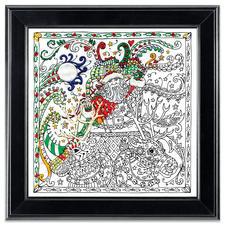 """Stickbild """"Santa"""" Zenbroidery – Die Kunst des freien Stickens"""