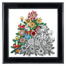 Christmas Tree, Zenbroidery-Stickbild