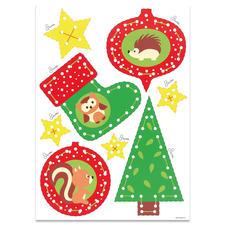 """Weihnachts-Anhänger - Igel & Eule """"Meine ersten Weihnachts-Anhänger"""" – für Kinder ab 3 Jahren."""