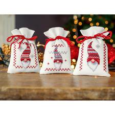 3 Kräutertütchen im Set - Weihnachts-Wichtel.