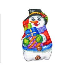 Formkissen - Schneemann mit Geschenken -