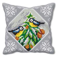 Vogel-Idylle, Kreuzstichkissen Kreuzstichkissen – der beliebte Klassiker.