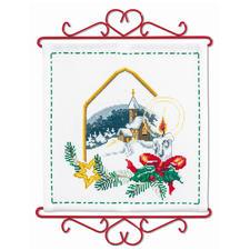 Wandbehang - Weihnachts-Idylle Weisse Weihnacht