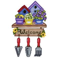 Wand- oder Türdeko - Garden Welcome