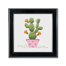 Stickbild - Kaktus im pinken Topf Urban Jungle – Dschungelfeeling für Ihr Zuhause