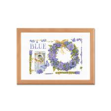 """Stickbild """"Lavendelkranz"""" Marjolein Bastin - Naturcollagen wie gemalt."""