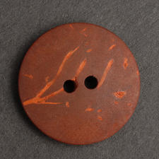 Kokosnuss-Knopf, rot, Ø 20 mm, 1 Stück
