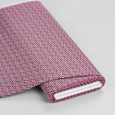 Meterware - Raute Baumwollstoff in Retro-Muster - Mustermix und Farben bringen frischen Look