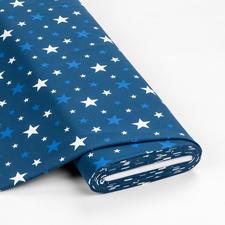 """Meterware Baumwoll-Jersey """"Sterne"""", Jeansblau Jersey – der Stoff mit Wohlfühlfaktor"""