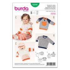"""Burda Schnitt 9399 """"Sweater & Jacke"""""""