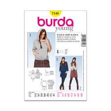 Burda Schnitt 7148 - Kleid & Shirt & Rock.
