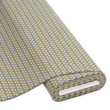 """Meterware Baumwoll-Jersey """"Hexagon"""", Gelb Baumwoll-Jersey – Der ideale Stoff für bequeme Shirts, Kleider und Kindermode."""