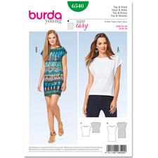 Burda Schnitt 6540 - Top & Kleid.