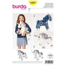"""Burda Schnitt 6495 """"Kuscheltier Pferd & Einhorn"""""""