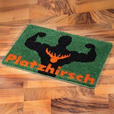 """Fussmatte """"Platzhirsch"""""""