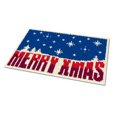 """Fussmatte """"Merry Xmas"""" Weihnachtliche Fussmatte."""