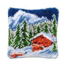 Knüpfkissen - Winterlandschaft