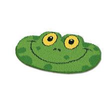 """Formteppich """"Frosch"""" Erstes Knüpfen für die ganz Kleinen."""