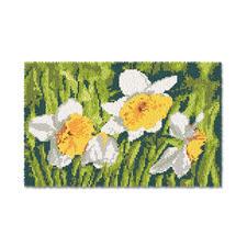 "Wandbehang ""Narzissenwiese"" Wandbehänge mit Frühlingsmotiven."