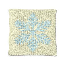 """Knüpfkissen """"Eiskristall 1"""" Let it snow"""