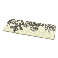 Fussmatte - Schneeflocken, silber