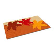Kreuzstich-Fussmatte - Herbst Jetzt neu – gestickte Fussmatten.