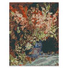 """Wandbehang """"Gladiolen"""" Wandbehang Gladiolen- nach einem Gemälde von Renoir aus Reiner Schurwolle."""