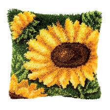 Knüpfkissen - Sonnenblume Knüpfideen – schnell und leicht.