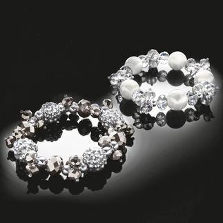 Armband aus Glasschliffperlen, 25 cm Glitzernde Schmuckstücke mit Glasschliffperlen.