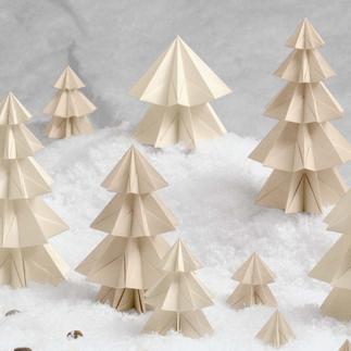Bastel-Set - Schneetannen Zauberhafte Papierdekorationen
