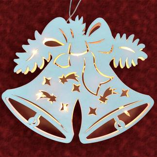 Stimmungsvolle Dekorationen aus Holz - Fensterbild Glocke Stimmungsvolle Dekorationen aus Holz