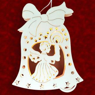 """Stimmungsvolle Dekorationen aus Holz """"Fensterbild Engel mit Kerze"""" Stimmungsvolle Dekorationen aus Holz"""