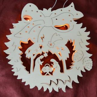 """Stimmungsvolle Dekorationen aus Holz """"Fensterbild Christi Geburt"""" Stimmungsvolle Dekorationen aus Holz"""