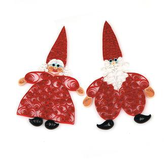 """Quilling Weihnachtsdekoration """"Mr. & Mrs. Santa"""" Quilling - Zauberhafte Weihnachtsdekorationen aus dünnen Papiersteifen"""