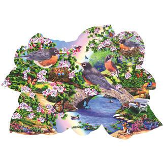 Puzzle - Rotkehlchen im Park Puzzeln - Ein Spass für die ganze Familie – spannend und entspannend zugleich.