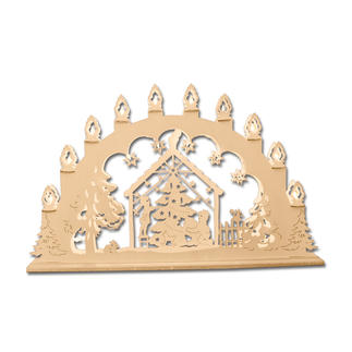 Stimmungsvolle Dekorationen aus Holz - Lichterbogen Weihnachtsbaum Stimmungsvolle Dekorationen aus Holz.