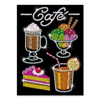 Paillettenbilder für Erwachsene - Café Glitzernde Paillettenbilder – ganz einfach gesteckt