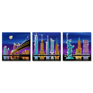 3 Paillettenbilder im Set - New York