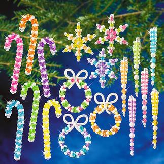 XXL-Weihnachts-Set - Bunt Glamouröser Perlen-Weihnachtsschmuck – in Komplettpackungen zum kreativen Selbermachen.