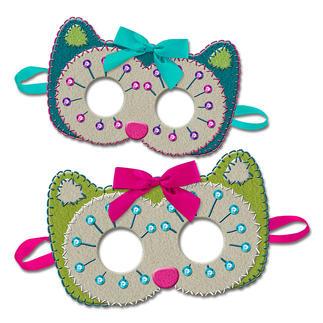Masken aus Filz Filzen – der beliebte Bastelspass für Erwachsene und Kinder.