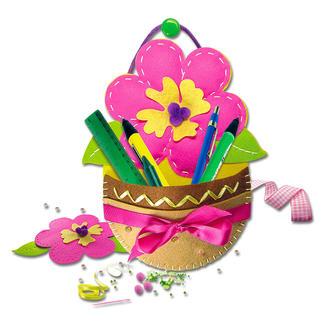 Hänge-Utensilo - Blume aus Filz Filzen – der beliebte Bastelspass für Erwachsene und Kinder