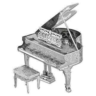 3D-Miniaturen - Piano Hochwertige Edelstahl – Miniaturen in 3D.