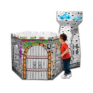 XXL-Spielhaus - Schlossturm XXL-Spielhäuser zum Bemalen und Spasshaben.