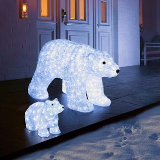 Deko LED-Eisbär Glitzernd wie Eis. Und auf Wunsch sensationell illuminiert.