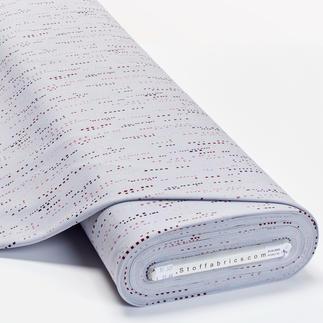 Meterware Baumwoll-Jersey - Grafik-Streifen Baumwoll-Jersey – Der ideale Stoff für bequeme Shirts, Kleider und Kindermode.